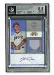 2012 TOPPS TRIPLE THREADS UNITY RELIC AUTOGRAPHS MIKE TROUT - BGS NM-MT+ 8.5, AUTO. 10