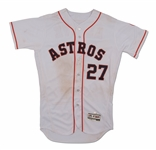 9/27/2016 JOSE ALTUVE HOUSTON ASTROS GAME WORN HOME JERSEY VS. SEATTLE MARINERS