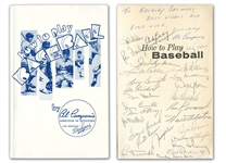 "IMPORTANT 1962 LOS ANGELES DODGERS TEAM SIGNED ""HOW TO PLAY BASEBALL"" BOOK INCLUDING AUTHOR & DODGER EXECUTIVE AL CAMPANIS, KOUFAX, DRYSDALE & ALSTON - BECKETT LOA"