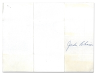 UNIQUE 1967 JACKIE ROBINSON AUTOGRAPHED REVERSE SIDE OF HOTEL RECEIPT - PERFECT EXAMPLE FOR MATTING & FRAMING WITH JACKIE PHOTO OR BASEBALL CARD - PSA/DNA