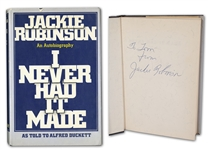 "1972 JACKIE ROBINSON AUTOGRAPHED AUTOBIOGRAPHY ""I NEVER HAD IT MADE"" - BECKETT"