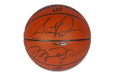 MICHAEL JORDAN & SCOTTIE PIPPEN DUAL-SIGNED LIMITED EDITION (15/72) SPALDING BASKETBALL - UDA - BECKETT LOA 10 AUTOGRAPH