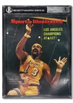 5/15/1972 WILT CHAMBERLAIN VINTAGE BALLPOINT AUTOGRAPHED SPORTS ILLUSTRATED COVER - LOS ANGELES CHAMPIONS AT LAST! (TIM GALLAGHER COLLECTION) - BECKETT ENCAPSULATION