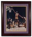 "WILT CHAMBERLAIN FINGER ROLL AT THE FORUM AUTOGRAPHED 16"" X 20"" PHOTO- PSA/DNA COA"