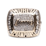 SHAQUILLE ONEAL 2000 LOS ANGELES LAKERS 14K GOLD CHAMPIONSHIP RING W/DIAMONDS- PSA/DNA LOA