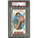 FRESHLY GRADED & FRESH TO THE HOBBY - 1969 TOPPS #25 LEW ALCINDOR BASKETBALL ROOKIE CARD - PSA EX-MT 6