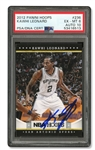 EXQUISITE DUAL-GRADE 2012 PANINI HOOPS #236 KAWHI LEONARD AUTOGRAPHED BASKETBALL CARD (TIM GALLAGHER COLLECTION) - PSA EX-MT 6 & PSA/DNA 10 AUTO
