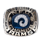 IMPRESSIVE 1979 VINCE FERRAGAMO LOS ANGELES RAMS NFC CHAMPIONSHIP RING
