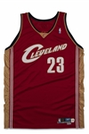 2003-2004 LEBRON JAMES CLEVELAND CAVALIERS ROAD GAME ROOKIE JERSEY - SPORTS INVESTORS LOA